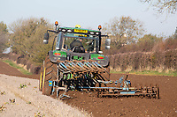 Ploughing on the Lincolnshire Wolds<br /> &copy;Tim Scrivener Photographer 07850 303986<br />      ....Covering Agriculture In The UK....
