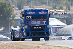 German driver Rene Reinert belonging German team Rene Reinert during the super pole SP1 of the XXX Spain GP Camion of the FIA European Truck Racing Championship 2016 in Madrid. October 01, 2016. (ALTERPHOTOS/Rodrigo Jimenez)