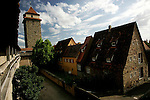 View of the old wall and the tower of Galgentor in Rothenburg ob der tauber, Germany, August 02, 2008. (ALTERPHOTOS/Alvaro Hernandez)