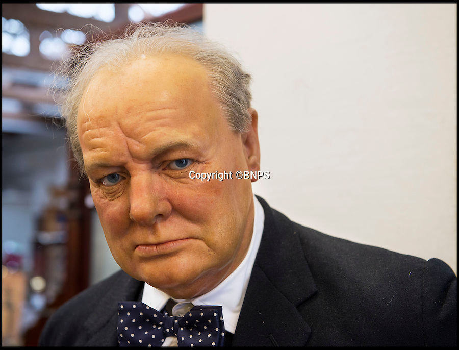 BNPS.co.uk (01202 558833)<br /> Pic: PhilYeomans/BNPS<br /> <br /> Churchill...sold for £8000.<br /> <br /> A waxwork statue of Sir Winston Churchill has led a £20,000 sale of a bizarre assortment of lifelike figures of the great and the good.<br /> <br /> The life-size model of the wartime Prime Minister in his pomp sold for nearly £8,000 to a private individual who plans to put it in his living room for display.<br /> <br /> The next highest figure was that of a highly-realistic Henry VIII - and everyone of his six wives. The royal group sold for £3,600 to a television props company.<br /> <br /> Other waxworks that sold included a figure of a Chelsea Pensioner, Tom Thumb dressed as Napolean Bonarpate and Queen Alexandra.<br /> <br /> The figures were all sold by the owners of Yesterday's World, a provincial museum dedicated to British social history. The attraction, in Great Yarmouth, Norfolk, went out of business last November.