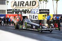 Feb 3, 2017; Chandler, AZ, USA; NHRA top fuel driver Brittany Force during Nitro Spring Training preseason testing at Wild Horse Pass Motorsports Park. Mandatory Credit: Mark J. Rebilas-USA TODAY Sports