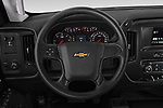 Car pictures of steering wheel view of a 2019 Chevrolet Silverado-3500 WT 4 Door Pick Up