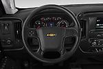 Car pictures of steering wheel view of a 2019 Chevrolet Silverado-3500 WT 4 Door Pick Up