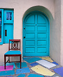 Colorful door entry in San Diego, California