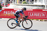 Emilie Moberg (NOR) Hitec Products in action during the Madrid Challenge by La Vuelta 2017 was ridden over 87km, with 15 laps on a 5.8km route around the iconic Plaza Cibeles, Madrid, Spain. 10th September 2017.<br /> Picture: Unipublic/&copy;photogomezsport | Cyclefile<br /> <br /> <br /> All photos usage must carry mandatory copyright credit (&copy; Cyclefile | Unipublic/&copy;photogomezsport)