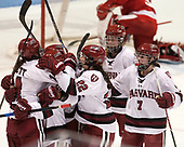 - The Harvard University Crimson tied the Boston University Terriers 6-6 on Monday, February 7, 2017, in the Beanpot consolation game at Matthews Arena in Boston, Massachusetts.