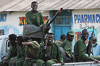 Somali Transitional Federal Government  Security Forces protect the main square of the Town of Buur Hakaba, 60 Km east of Baidoa, Somalia on Thursday Dec 28 2006..