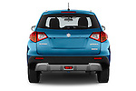 Straight rear view of a 2015 Suzuki Vitara Lux Extra 5 Door SUV stock images