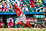 1 March 2019: Washington Nationals outfielder and top prospect Victor Robles at bat during a Spring Training game against the Miami Marlins at Roger Dean Stadium in Jupiter, Florida. The Nationals defeated the Marlins 5-4 in Grapefruit League play. Mandatory Credit: Ed Wolfstein Photo *** RAW (NEF) Image File Available ***