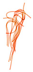 X-ray image of spaghetti strands (color on white) by Jim Wehtje, specialist in x-ray art and design images.