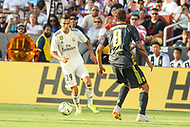 Landover, MD - August 4, 2018: Real Madrid midfielder Franchu Feuillassier (29) in action during the match between Juventus and Real Madrid at FedEx Field in Landover, MD.   (Photo by Elliott Brown/Media Images International)