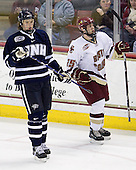 James van Riemsdyk (UNH - 21), Matt Price (BC - 25) - The visiting University of New Hampshire Wildcats defeated the Boston College Eagles 4-2 on Saturday, February 21, 2009, at Conte Forum in Chestnut Hill, MA.
