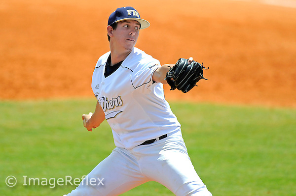 31 March 2013:  FIU right-handed pitcher Alex Seibold (41) pitches in relief as the FIU Golden Panthers defeated the Arkansas State University Red Wolves, 9-6 (11 innings), at University Park Stadium in Miami, Florida.