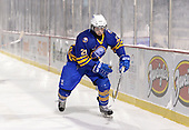 Buffalo Junior Sabres forward Nico Gonzalez (21) during a game against the St. Michaels Buzzers at the Frozen Frontier outdoor game at Frontier Field on December 15, 2013 in Rochester, New York.  St. Michael's defeated Buffalo 5-4.  (Copyright Mike Janes Photography)