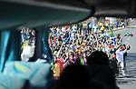 FUDBAL, JOHANEZBURG, 08. Jun. 2010. - Navijaci Juzne Afrike izasli su na ulice Johanezburga da pozdrave pored svojih fudbalera i ostale goste. Foto: Nenad Negovanovic
