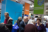 People gather in a vendor exhibition hall at the Union for Reform Judaism Biennial 2017 in the Hynes Convention Center in Boston, Mass., USA, on Wed., Dec. 6, 2017.