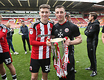 Sheffield United's David Brooks and Adam Geelan celebrates during the League One match at Bramall Lane, Sheffield. Picture date: April 30th, 2017. Pic David Klein/Sportimage