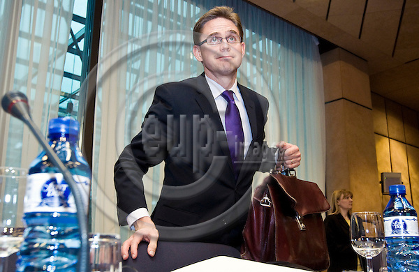 BRUSSELS - BELGIUM - 15 FEBRUARY 2010 -- European Council meeting with ministers of the Eurogroup. -- Jyrki KATAINEN, Minister for Finance of Finland. -- PHOTO: Juha ROININEN / EUP-IMAGES
