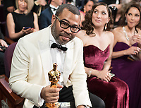Oscar&reg; winner for Original Screenplay, Jordan Peele, Chelsea Peretti and Ashley Judd at the 90th Oscars&reg; at the Dolby&reg; Theatre in Hollywood, CA on Sunday, March 4, 2018.<br /> *Editorial Use Only*<br /> CAP/PLF/AMPAS<br /> Supplied by Capital Pictures