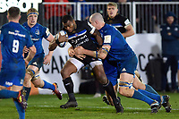 Semesa Rokoduguni of Bath Rugby takes on the Leinster defence. Heineken Champions Cup match, between Bath Rugby and Leinster Rugby on December 8, 2018 at the Recreation Ground in Bath, England. Photo by: Patrick Khachfe / Onside Images