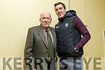 Mike Joe Quinlan and David Moran, who were guests at the Juvenile GAA medal presentation in Ballyduff on Thursday.