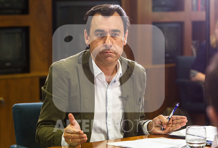 Fernando Martinez Maillo of Partido Popular during the debate on agreements with representatives of the four major political forces at the headquarters of the newspaper La Razon . 19,06,2016. (ALTERPHOTOS/Rodrigo Jimenez)