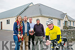 Liam Gowan - 600kms cycle in Spain in aid of The Irish Hospice Foundation. Pictured members of Abbeydorney Drama Group Elaine Ryall, Tom Hayes, Mossey Leahy and  Ned Hayes presented a cheque to Liam Gowan  for €300