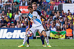 Deportivo de La Coru?a's Joselu Mato and FC Barcelona's Ivan Rakitic during the La Liga match between Futbol Club Barcelona and Deportivo de la Coruna at Camp Nou Stadium Spain. October 15, 2016. (ALTERPHOTOS/Rodrigo Jimenez)