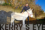 ISPAC Inspector Neill Farwell with a Donkey that was rescued.
