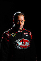 Feb 8, 2017; Pomona, CA, USA; NHRA funny car driver Jeff Diehl poses for a portrait during media day at Auto Club Raceway at Pomona. Mandatory Credit: Mark J. Rebilas-USA TODAY Sports