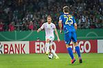 10.08.2019, wohninvest Weserstadion, Bremen, GER, DFB-Pokal, 1. Runde, SV Atlas Delmenhorst vs SV Werder Bremen<br /> <br /> DFB REGULATIONS PROHIBIT ANY USE OF PHOTOGRAPHS AS IMAGE SEQUENCES AND/OR QUASI-VIDEO.<br /> <br /> im Bild / picture shows<br /> <br /> Niklas Moisander (Werder Bremen #18)<br /> Thade Hein (SV Atlas Delmenhorst #25)<br /> Foto © nordphoto / Kokenge