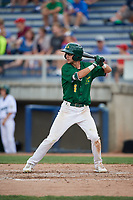 Beloit Snappers center fielder Mickey McDonald (4) at bat during a game against the Dayton Dragons on July 22, 2018 at Pohlman Field in Beloit, Wisconsin.  Dayton defeated Beloit 2-1.  (Mike Janes/Four Seam Images)