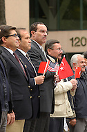 October 2, 2011  (Washington, DC)  District of Columbia Mayor Vincent Gray (center) attended the Turkish Festival in Washington with Turkish Ambassador Tan (2nd, left) and Ankara, Turkey, Mayor Melih Gökcek (2nd, right).    (Photo by Don Baxter/Media Images International)
