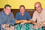 Enjoying themselves at the Poker Classic in aid of Ballyheigue Summer Festival held in Flahive's Bar on Friday night were l/r Shane Horgan, Paul O'Connor and Gary Stack, all Ballyheigue.................................................................................................................................................................................................................... ............