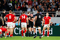 1st November 2019, Tokyo, Japan;  Ryan Crotty (NZL) celebrates scoring his try;  2019 Rugby World Cup 3rd place match between New Zealand 40-17 Wales at Tokyo Stadium in Tokyo, Japan.  - Editorial Use