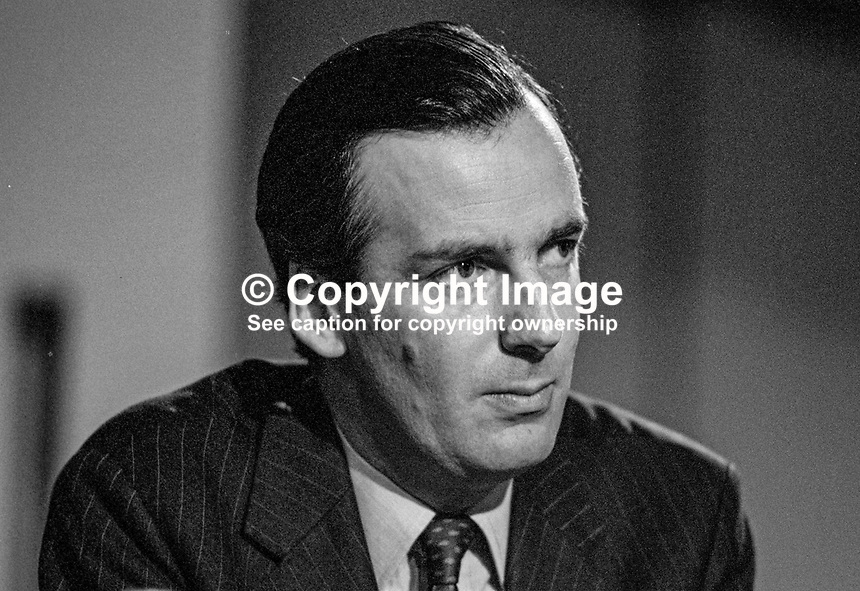 Albert Booth, former MP &amp; government minister, Labour Party, lost seat 1979 UK general election. 19851047AB.<br />