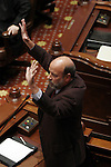 Sen. Frank Watson, R-Greenville, speaks before the vote to impeach Gov. Rod Blagojevich at the Illinois State Capitol in Springfield, Ill., January 29, 2009. Watson became emotional as he lamented the impeachment situation. Later that day he, along with all the other senators, voted 59-0 to remove the governor from office..Kristen Schmid Schurter