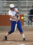 Wildcats' Lauren Lesniak hits against Snow College at Edmonds Sports Complex in Carson City, Nev., on Friday, March 20, 2015. <br /> Photo by Cathleen Allison