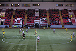 Clyde versus Edinburgh City, SPFL League 2 game at Broadwood Stadium, Cumbernauld. The match ended 0-0, watched by a crowd of 461. Photo shows the spectators in a crowd of 461 watching from the main stand.