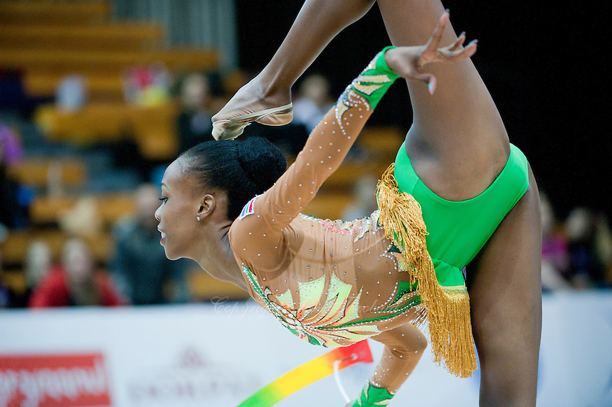 "February 12, 2016 - Tartu, Estonia - GRACE LEGOTE of South Africa performs in the All-Around at ""Miss Valentine"" 2016 international tournament."