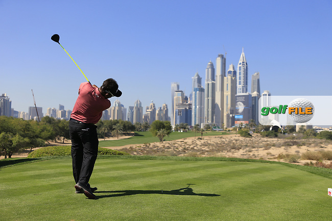 Thongchai JAIDEE (THA) tees off the 8th tee during Pink Friday's Round 2 of the 2015 Omega Dubai Desert Classic held at the Emirates Golf Club, Dubai, UAE.: Picture Eoin Clarke, www.golffile.ie: 1/30/2015