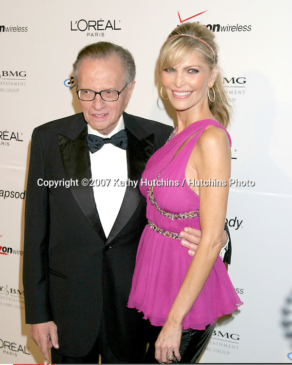 Larry King & Shawn Southwick.Clive Davis Annual Pre-Grammy Party.Beverly Hilton Hotel.Los Angeles, CA.February 10, 2007.©2007 Kathy Hutchins / Hutchins Photo.