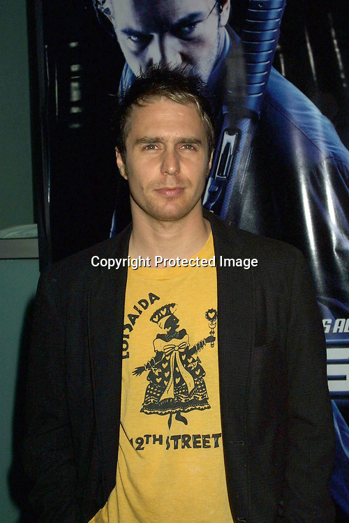 "©1999 KATHY HUTCHINS / HUTCHINS PHOTO.""BALLISTIC:  ECKS VS. SEVER"" PREMIERE.CINERAMA DOM, HOLLYWOOD, CA.SEPTEMBER 18, 2002..SAM ROCKWELL"