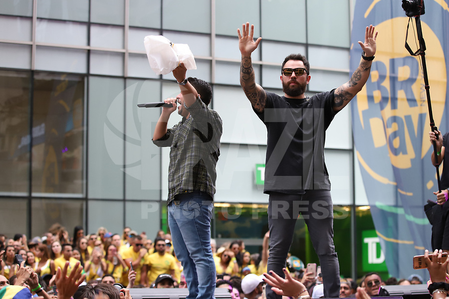 NOVA YORK (EUA) 01.09.2019 - BRAZILIAN-DAY - Dupla Jorge e Mateus durante Brazilian Day ( BRDay) na cidade de Nova York neste domingo, 01. (Foto: Vanessa Carvalho/Brazil Photo Press)
