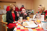 "NO REPRO FEE. 21/11/2011. New Alzheimer Day Centre at full capacity as demand for Alzheimer services grow. Minister for Social Protection Joan Burton T.D. officially opened ""Failte Day Centre"", which will provide dementia-specific, person-centred care to people with dementia and their carers in Hartstown, Clonsilla. The Minister is pictured with cient Eddie O Hahony and daughter Edel Kavanagh from the Navan Rd. The Alzheimer Society of Ireland, in partnership with the HSE, is currently operating 3 days a week caring for clients living with dementia who live in Castleknock. Picture James Horan/Collins Photos"