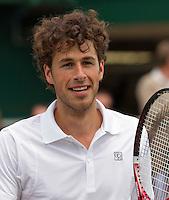 21-06-11, Tennis, England, Wimbledon, Robin Haase  is blij, hij gaat door naar de tweede ronde