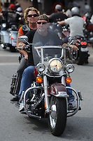 NWA Democrat-Gazette/ANDY SHUPE<br /> Visitors enjoy the second day Thursday, Sept. 24, 2015, of the 16th annual Bikes, Blues & BBQ motorcycle rally on Dickson Street in Fayetteville. Visit nwadg.com/photos to see more photographs from the rally.