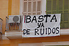 Enough of the noise - protest banner at a balcony, Plaza Mayor<br /> <br /> Basta ya de Ruidos - bandera de protesta en un balc&oacute;n, Plaza Mayor<br /> <br /> Es reicht mit dem L&auml;rm - Protesttransparent an einem Balkon, Plaza Mayor <br /> <br /> 3008 x 2000 px<br /> 150 dpi: 50,94 x 33,87 cm<br /> 300 dpi: 25,47 x 16,93 cm