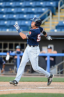 Connecticut Tigers second baseman Dominic Ficociello #55 during a game against the Staten Island Yankees on July 7, 2013 at Richmond County Bank Ballpark in Staten Island, New York.  Staten Island defeated Connecticut 6-2.  (Mike Janes/Four Seam Images)