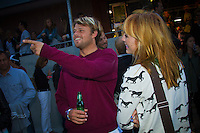 Dane Reynolds (USA) and his girlfriend Courtney at the Quiksilver Pro France press conference. SOUTHWEST COAST, France (Friday, September 24, 2010) -The greatest assemblage of surfing talent in history has converged on the European continent for Stop No. 7 of 10 on the 2010 ASP World Tour, the Quiksilver Pro France from September 25 through October 5, 2010.. .With excellent swell projected for the beginning of the waiting period, the ASP Top 34 could begin battle as soon as tomorrow in the punchy beach breaks of Southwest France.. .Mick Fanning (AUS), 29, reigning ASP World Champion and defending Quiksilver Pro Champion, reinvigorated his 2010 ASP World Title campaign with an Equal 3rd in California last week and will look to build upon this result through Europe...The contest Press Conference was held tonight at the Quiksilver Boardriders Shop in Hossegor. World #1 Kelly Slater (USA), Dane Reynolds, (USA), Jeremy Flores (FRA) and Mick Fanning (AUS) were all in attendance. Photo: joliphotos.com